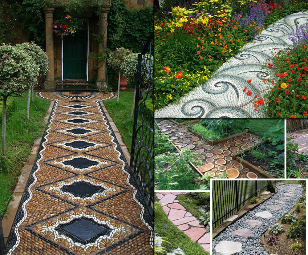garden designer and mosaic artist uses unusual tiles to help to