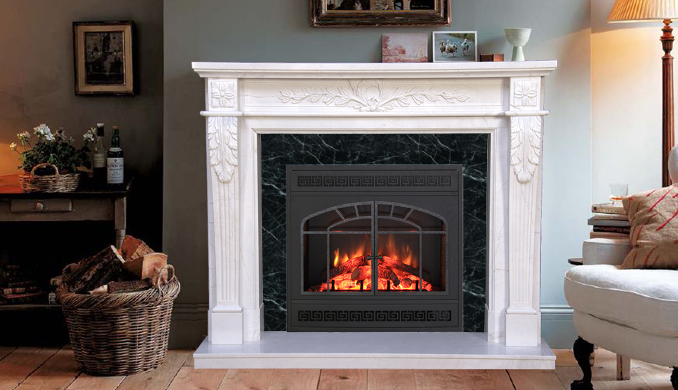 Home With Marble Mantels